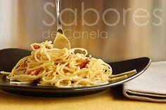 Sabores de Canela: Spaghetti alla Carbonara