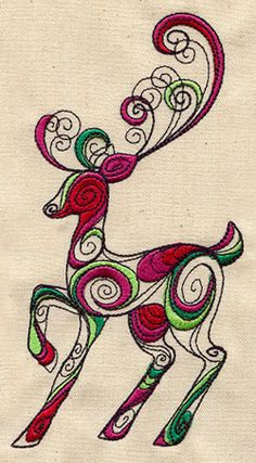 Light and loopy, this reindeer design will make a fun accent for Christmas. Switch up the colors to suit any season!