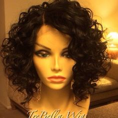 """355 Likes, 20 Comments - Wig Master (@trebellawigs) on Instagram: """"TreBella closure unit, curly bob style. I don't have specs for this one. If you have questions…"""""""