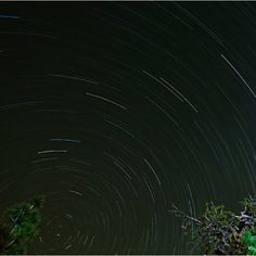 ...two-hour time exposure of stars spinning across the northern sky!