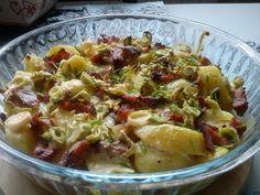 Zapiekane ziemniaki z porem i szynką