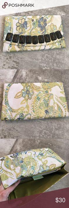 Boutique Floral Clutch EUC Deux Lux Clutch Deux Lux Bags