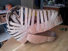 Dinosaur head Halloween costume - good basic shape for an alligator
