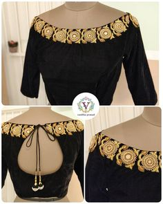 Top 30 Latest And Trendy Blouse Designs For Back Neck Top 30 Late. - Top 30 Latest And Trendy Blouse Designs For Back Neck Top 30 Latest And Trendy Blous - Black Blouse Designs, Saree Blouse Neck Designs, Kurti Back Neck Designs, Sari Design, Floral Design, Designer Kurtis, Stylish Blouse Design, Latest Design Of Blouse, Vintage Outfits