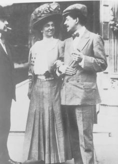 Archduchess Luise, Princess of Tuscany (1870–1947) with her second husband Enrico Toselli