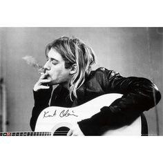 "Nirvana Juliste, Vaakasuora, 91,5 x 61 cm ""Kurt Cobain - Guitar"" • EMP.fi"