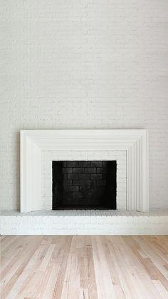 Fireplace Backsplash, Wood Mantle Fireplace, Brick Fireplace Makeover, Home Fireplace, Modern Fireplace, Fireplace Surrounds, Fireplace Design, Renovate Fireplace, Brick Fireplace Remodel