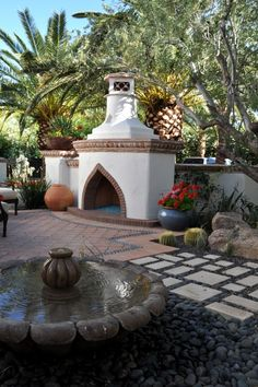 1000 images about spanish style fountains on pinterest for Spanish style outdoor fireplace