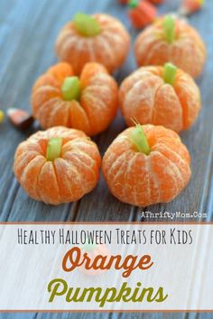 Healthy Halloween treats for kids October School fun food ideas Mini Orange Pumpkind with Celery Tops finger food for kids that will make them smileFun and Easy Halloween Recipes Halloween treats Halloween Finger Foods, Finger Foods For Kids, Halloween Treats For Kids, Halloween Food For Party, Fun Food For Kids, Halloween Meals, Creepy Halloween Food, Halloween Appetizers, Spooky Scary
