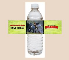 how to train your dragon water bottle labels   Items similar to How to TRAIN your DRAGON Water Bottle Label Birthday ...