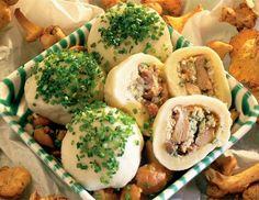 Eierschwammerlknödel - Rezept - ichkoche.at Fresh Rolls, Meal Prep, Vegetarian Recipes, Food And Drink, Mexican, Pasta, Meals, Vegan, Dinner
