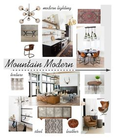 Mo Mountain Modern by nwolohan on Polyvore featuring interior, interiors, interior design, home, home decor, interior decorating, Nuevo and modern