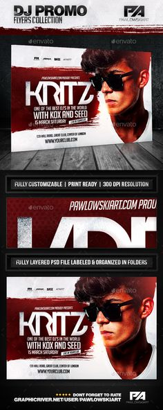 DJ Album Promo Horizontal Flyer Template - Concerts Events