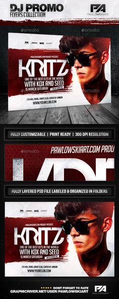 DJ Album Promo Horizontal Flyer Template - Concerts Events