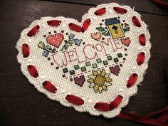 Cross stitch heart! #homesweethome