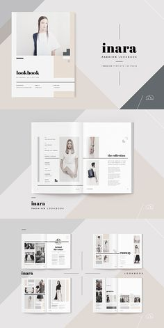 32 ideas design brochure template brosur for 2019 Portfolio Design Layouts, Fashion Design Portfolio, Template Portfolio, Photography Portfolio Layout, Design Retro, Graphisches Design, Page Design, Mise En Page Portfolio Mode, Portfolio Web