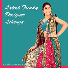 Buy latest trendy #designer #lehenga at your affordable price only at Shiromani Sarees.