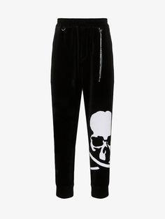 MASTERMIND JAPAN-pants-MASTERMIND JAPAN SKULL PRINT VELVET SWEATPANTS. #mastermind-japan #pants Mastermind Japan, Skull Print, Tailored Trousers, Brown Fashion, Velvet, Sweatpants, Slim, Black And White, Men