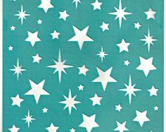 Pochoirs motif modèle Squares 6 pouces/15 cm par irismishly