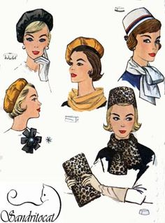 Vintage Simplicity 4178 Sewing Pattern for Jackie O Style Pillbox Hat, Beret, Scarf, Clutch Bag and Rosette at Eight Mile Vintage on Etsy Vintage Shoes, Vintage Outfits, Vintage Fashion, 1930s Fashion, Vintage Purses, Victorian Fashion, Vintage Headpiece, Mad Hatter Hats, Kentucky Derby Hats