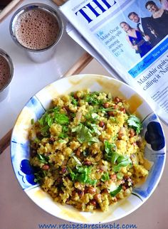 Kanda Poha Quick Indian Breakfast with Pressed Rice