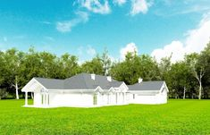 Projekt domu Rezydencja Parkowa - 258,96 m2 - koszt budowy 374 tys. zł Home Fashion, House Plans, Shed, Exterior, Outdoor Structures, Bungalows, Mansions, House Styles, Home Decor