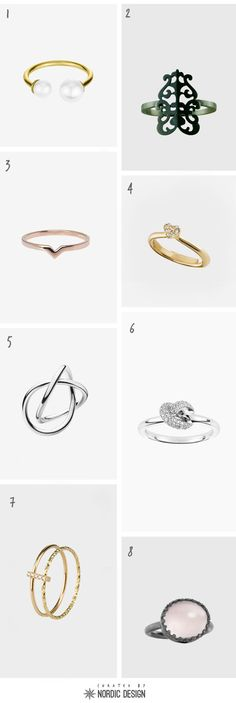 Curated: 8 Pretty Rings from Scandinavia - NordicDesign