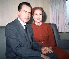 In this June 5, 1960 file photo, former President Richard Nixon, left, and his wife Pat pose for photos while campaigning at Rockefeller Center in New York. Six love letters between the 37th president and his wife will go on display Friday, March 16, 2012 as part of an exhibit at the Richard Nixon Presidential Library and Museum. The exhibit is intended to celebrate what would have been Pat Nixon's 100th birthday and is dedicated to her life and accomplishments. (AP File Photo)