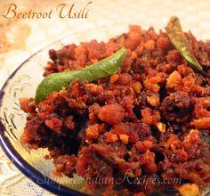 Beetroot With Crumbled Lentils (Beetroot Paruppu Usili): Recipe @ http://simpleindianrecipes.com/Home/Beetroot-Paruppu-Usili.aspx