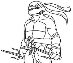 Tmnt raphael coloring pages ~ Raphael ninja turtle coloring page   Superheroes Coloring ...