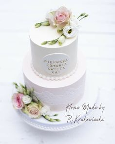 Cake Decorating Frosting, Drip Cakes, First Communion, Biscuits, Cooking Recipes, Food, First Holy Communion, Birthday Cakes, Finger Foods