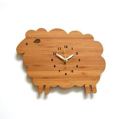 Holz Wanduhr Schafe Kinder Wanduhr Kinderzimmer Decor von decoylab