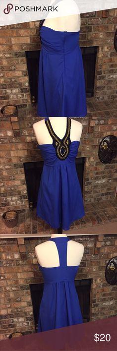 Francesca dress in royal blue Brand new! Beautiful dress. Size L Francesca's Collections Dresses Midi