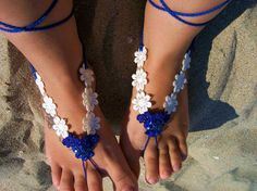 Wedding sandals, barefoot sandles - bridesmaid - bride, loving sandals foot thong from JenitBoutique