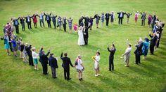 Wedding group shot taken at Leez Priory Wedding Venue Essex