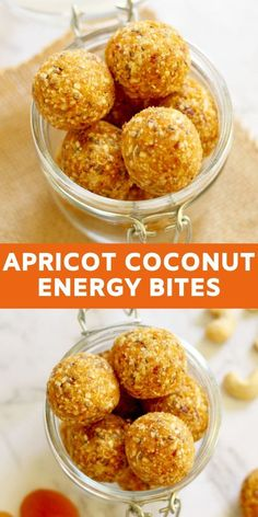 These healthy and nutritious No Bake Apricot Coconut Energy Bites are great for snacking on-the-go or popping in lunchboxes for little ones. These bites have no processed sugar or fake ingredients and are ready in just 10 minutes. Oatmeal Energy Bites, Peanut Butter Energy Bites, No Bake Energy Bites, Energy Balls, Healthy Recipes On A Budget, Cooking Recipes, Healthy Baking, Healthy Snacks, Apricot Recipes