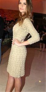 Очередной шедевр от бразильского дизайнера Джованны Диаас вяжется узором «веерочки». В таком платье вы будете элегантны и неповторимы на любом празднике или вечеринке. http://yahozayka.com/