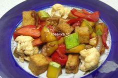 Tofu cu legume la tigaie, este o mancare delicioasa cu multe vitamine si minerale esentiale organismului, o mancare completa si usor de preparat