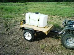 Ironton Utility Trailer made for 50 Gallon Water Tank