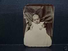 Antique Tintype Photo Hidden Mother and Baby | eBay