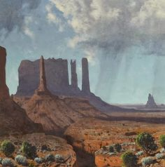 JAMES SWINNERTON (1875-1974) A Squall Over Monument Valley