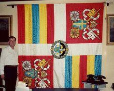 Bandera de la Guardia Suiza del Vaticano bajo Juan Pablo II