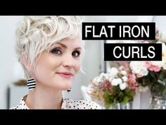*ignore the thumbnail pic, it's a different video and you'll love how she quickly gets a cute style with a flat iron and just longer than pixie hair! How to Curl Short Hair - YouTube