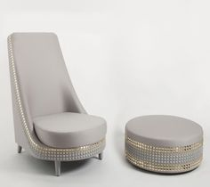 Lee Broom's dazzling furniture Armchair and Foot Stool