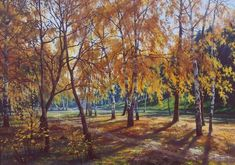 Осень в парке. 2004 Art Timeline, Timeline Photos, Landscape Paintings, Landscapes, Outdoor Decor, Image, Type 1, Autumn, Facebook