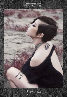Brown Eyed Girls released first comeback teaser image featuring Gain . On October at KST, Gain first teaser image has . South Korean Girls, Korean Girl Groups, Sg Wannabe, Mysterious Tattoo, Ga In, Edgy Hair, Brown Eyed Girls, Brown Eyes, Korean Singer