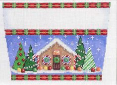 needlepoint christmas stocking topper canvas - Google Search