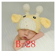 Amazon.com: Baby Crochet Knitted Hats Yellow and Whit Color Crochet Hats Baby Photography Prop Baby Animal Hat Cap: Baby