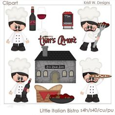 LITTLE ITALIAN BISTRO IS A DIGITAL CLIPART SET.  THIS SET CONTAINS 11 DIGITAL IMAGES.  ALL DIGITAL IMAGES ARE PROVIDED IN PNG FORMAT.    THE DIGITAL