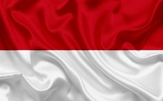 Scarica sfondi flag of Monaco, Europe, seta flag, principato di Monaco